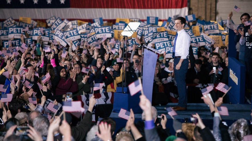 As Pete Buttigieg Moves into Third Place…